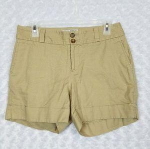 Banana Republic Size 4 Martin Fit Shorts Cuffed